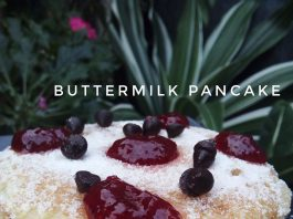 BUTTERMILK PANCAKE (NO TELUR) by Amelia Septifani