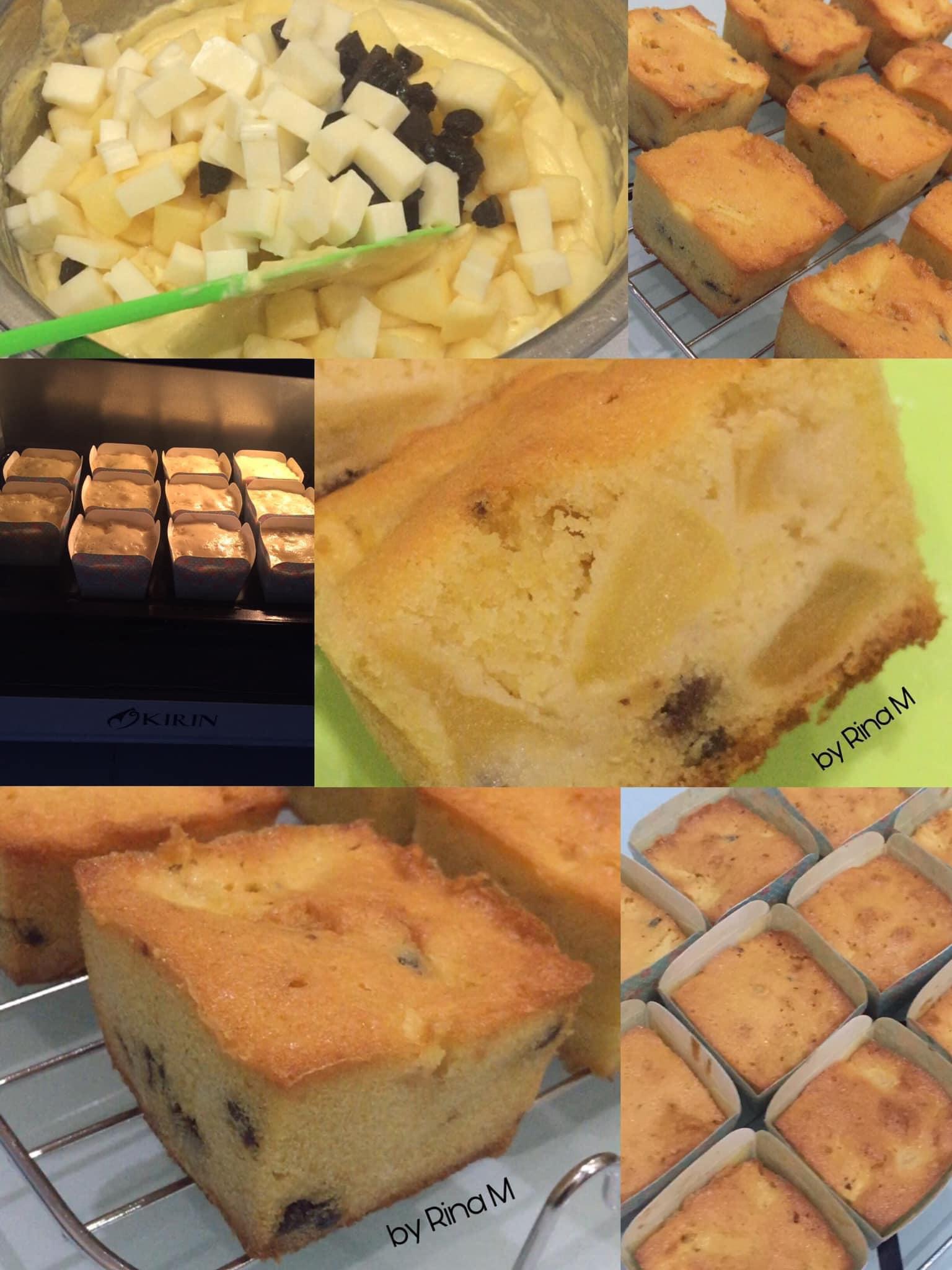 Apple Cheese Cake(Cake Apel Keju) by Rina M