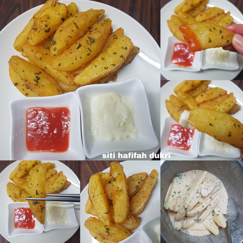 Kentang goreng atau wedges by Siti Hafifah Dukri