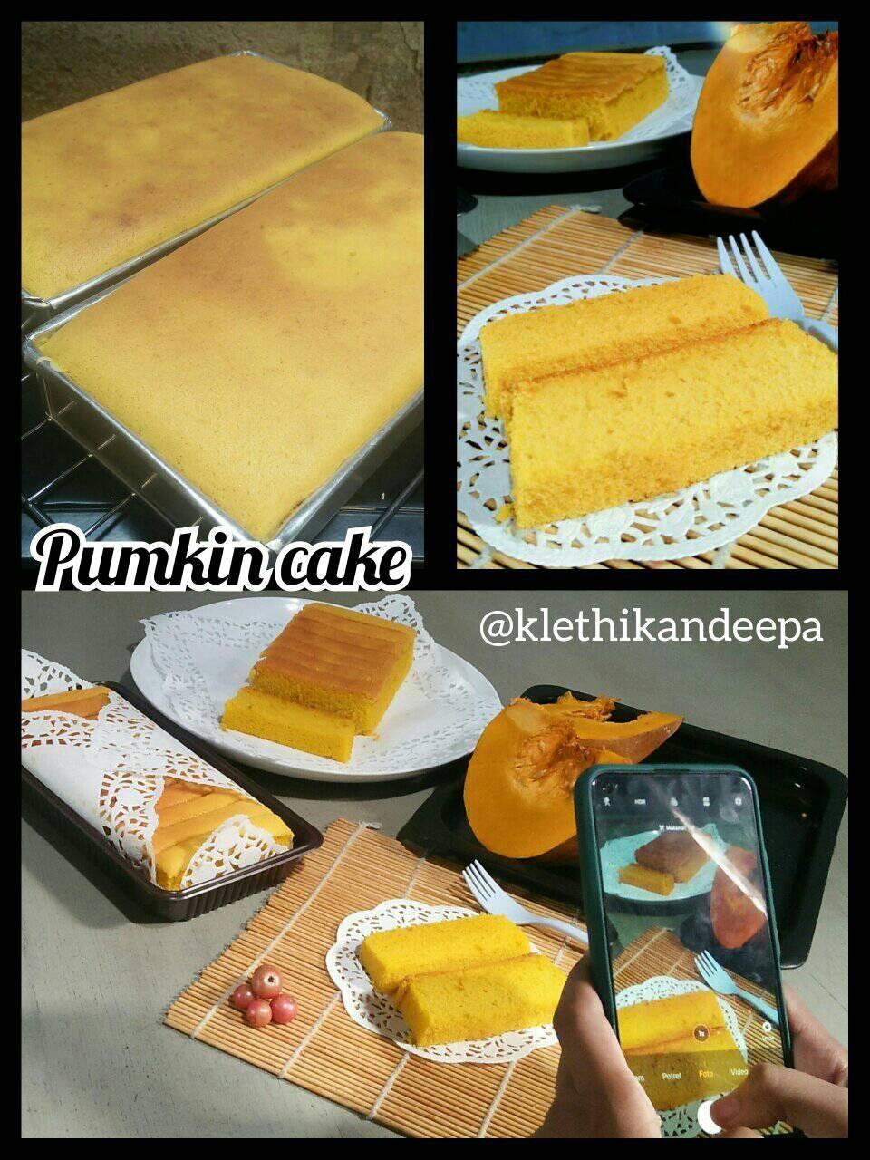 Resep Pumpkin cake/ Bolu Labu Ala Klethikan Deepa