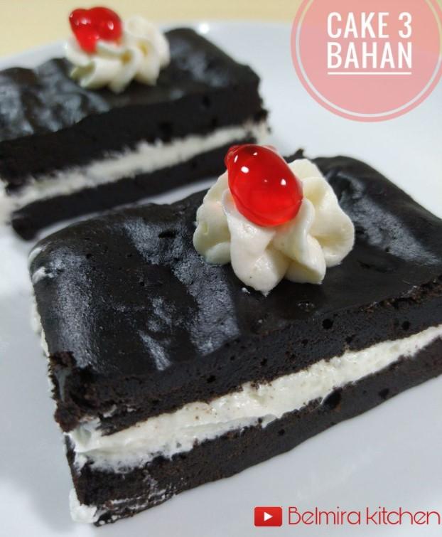 resep CAKE 3 BAHAN by Bella Irina