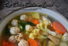 resep SUP BOLA BOLA AYAM by Dianish's Kitchen