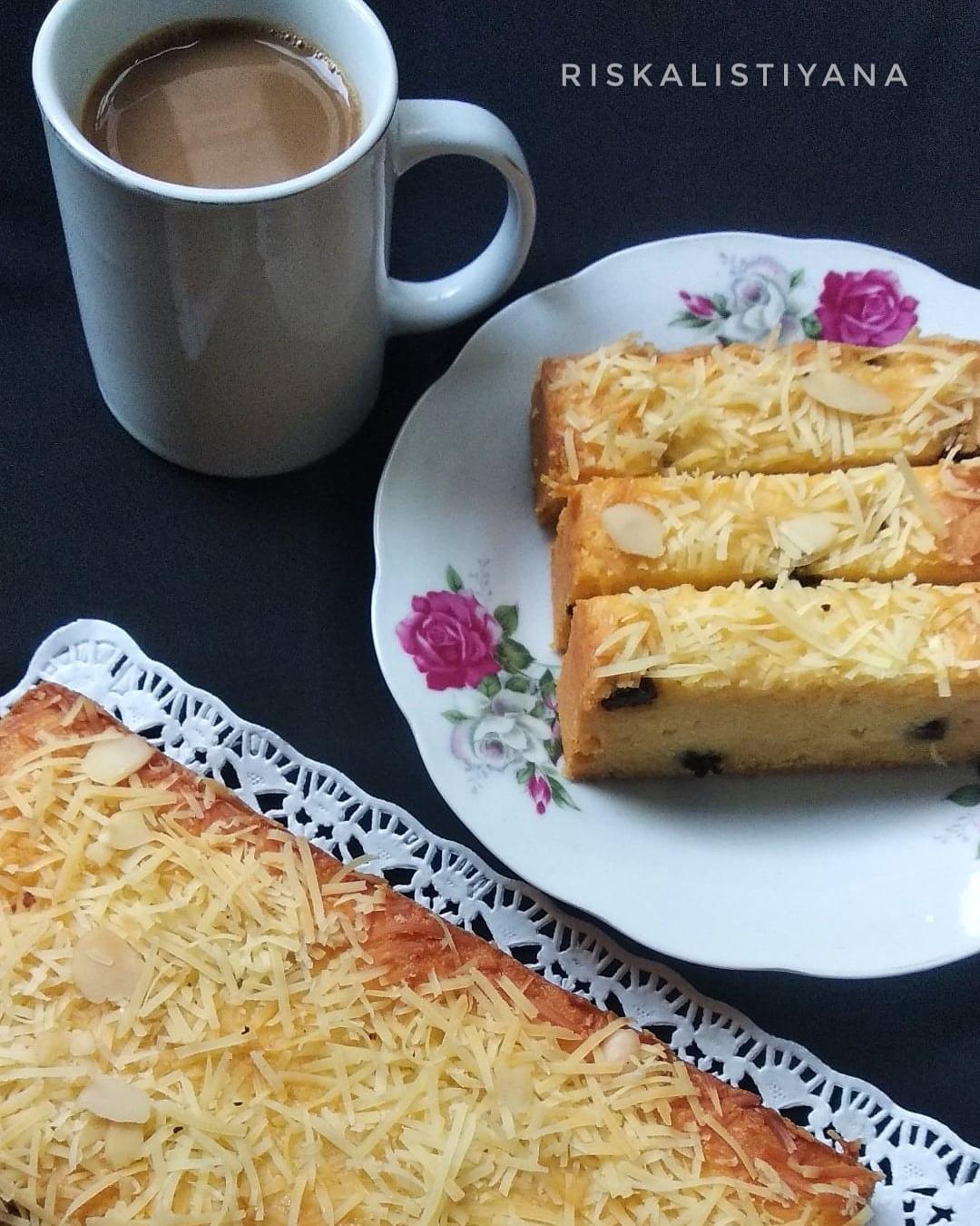 Bolu Tape Keju (versi butter cake) by Riska Listiyana