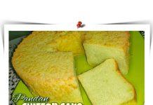 CHIFFON CAKE PANDAN TANPA PENGEMBANG - SUPER LEMBUT