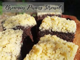 resep BROWNIES PISANG STREUSEL by Dianish's Kitchen