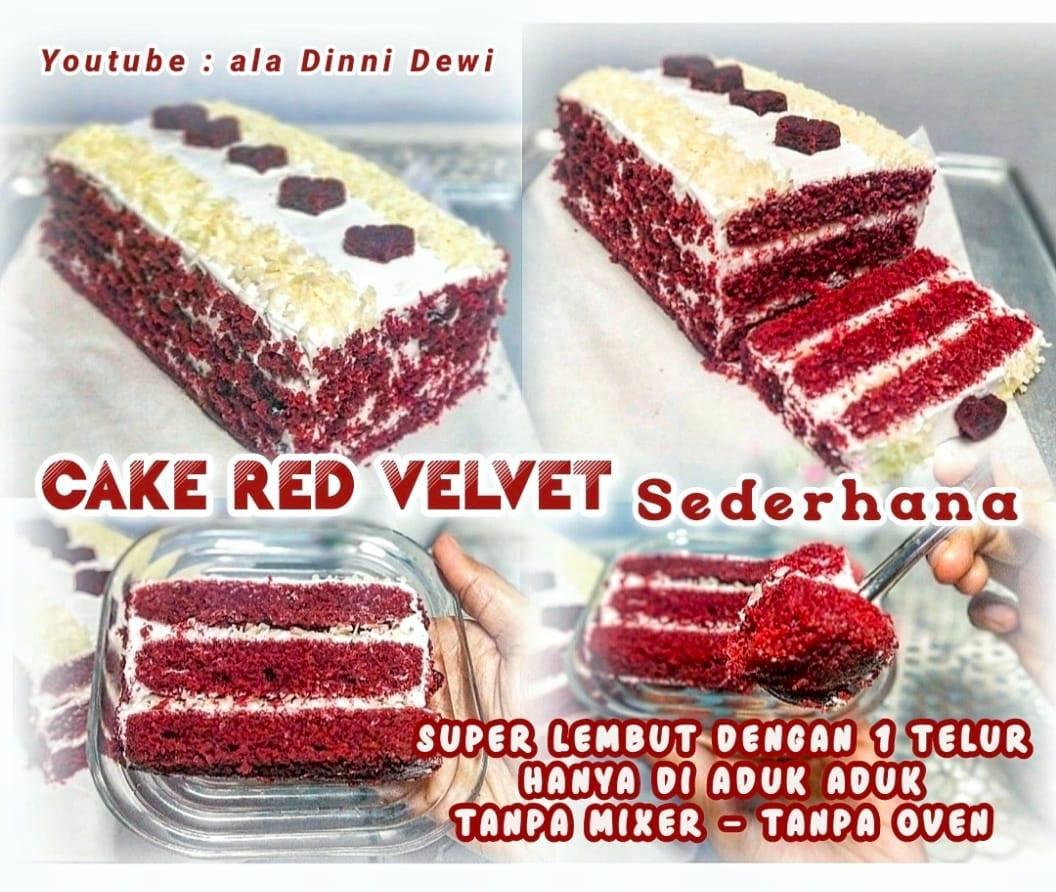 Cake RED VELVET 1 Telur Super Lembut by Dinni Dewi