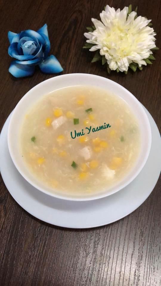 Chicken Corn Soup by Fah Umi Yasmin
