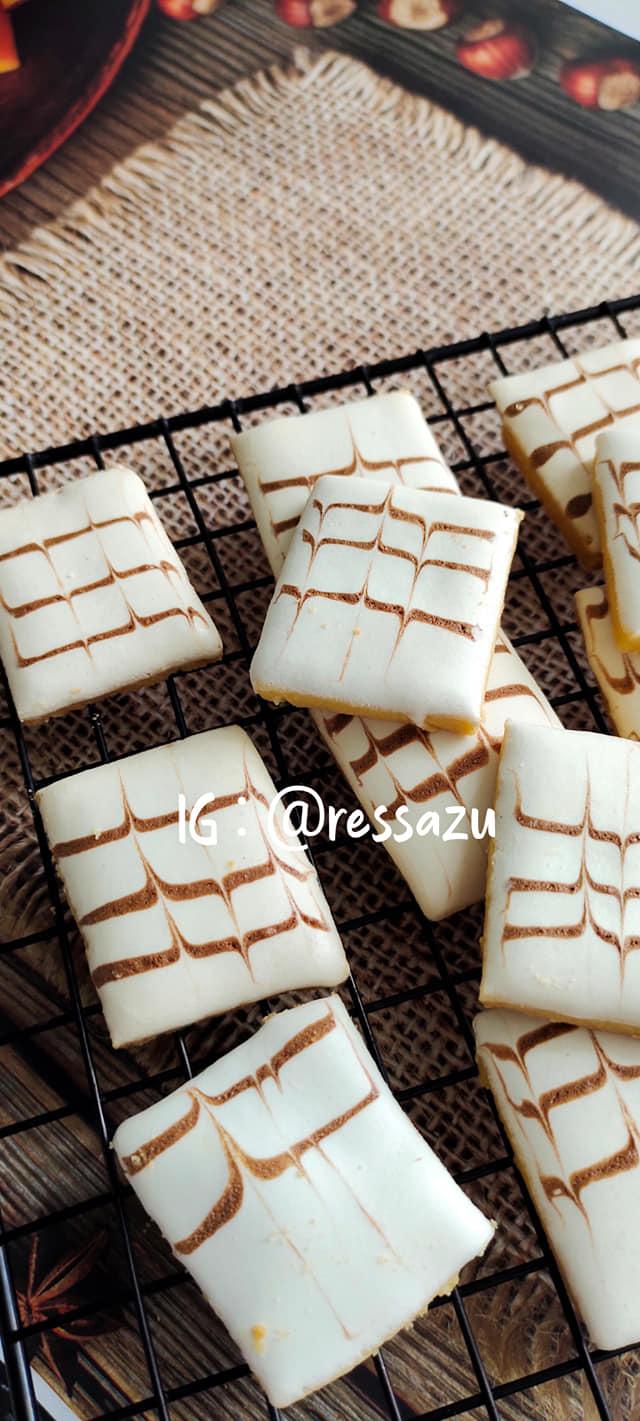 Resep Marmer Cookies / Kukis Batik by Resa Zu