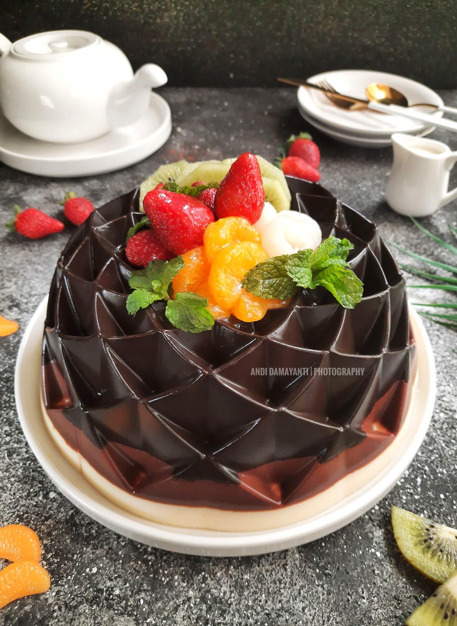 TRIPLE CHOCOLATE PUDDING by Andi Damayanti