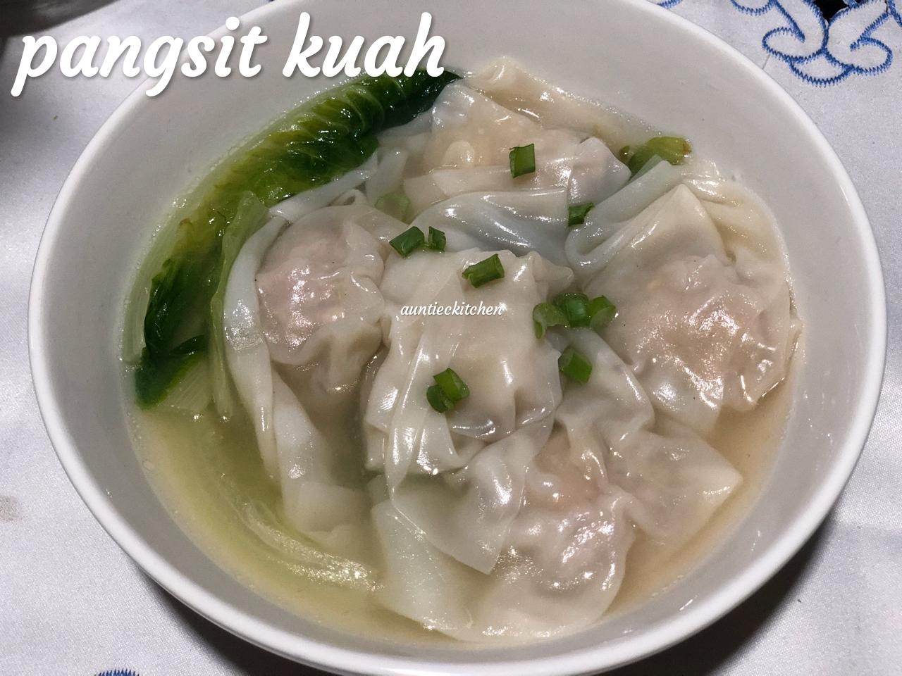 Edisi masakan Tionghoa Pangsit kuah by Auntiec Auntiec