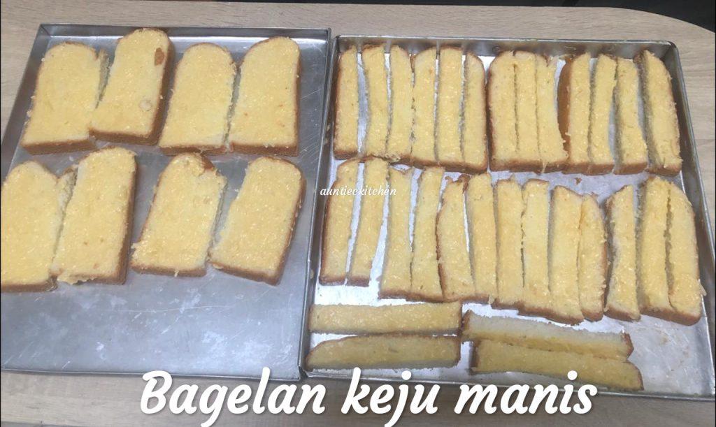 Memanfaatkan roti tawar Bagelan keju manis by Auntiec Auntiec