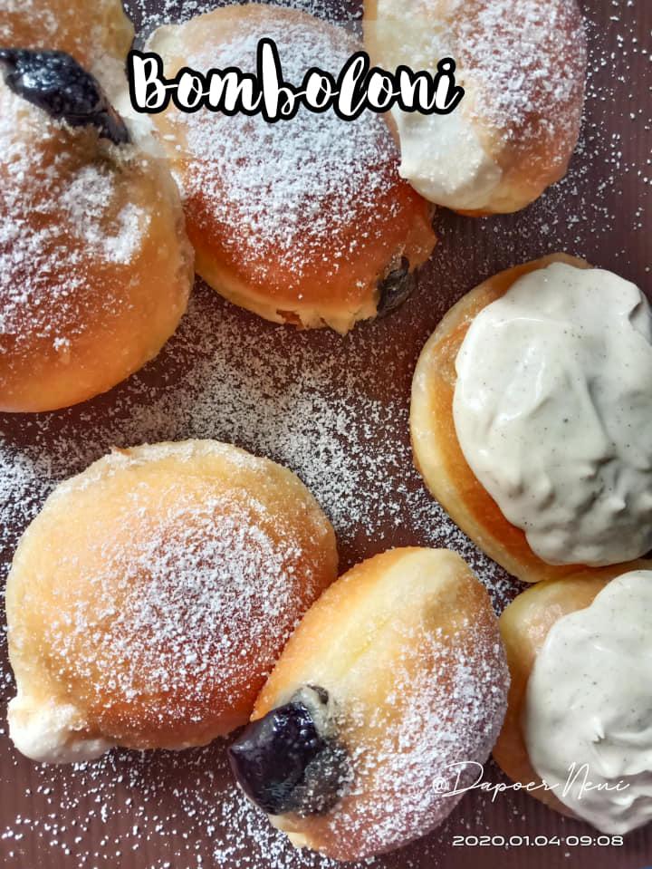 cara membuat roti yang santai Bomboloni Metode Autolysis by Neni Suheni 1