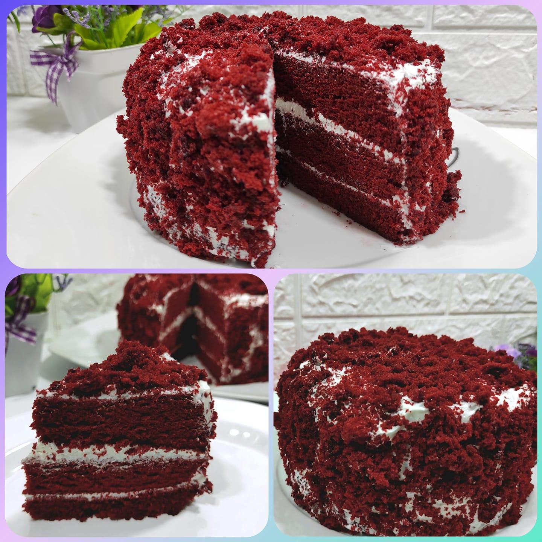resep membuat kue red velvet kukus by Melinda