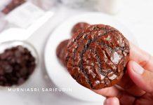 teksturenya empuk soft BROWNIES COOKIES by Nadya Adzra