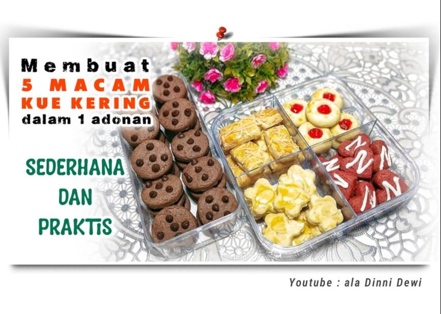 1 Adonan jadi 5 Jenis Kue Kering (Tanpa Mixer) by Dinni Dewi