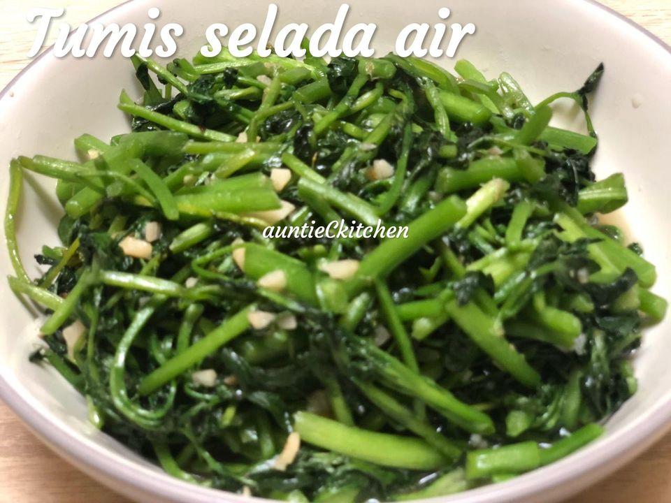 Edisi masakan harian Tumis Selada Air by AuntieC AuntieC