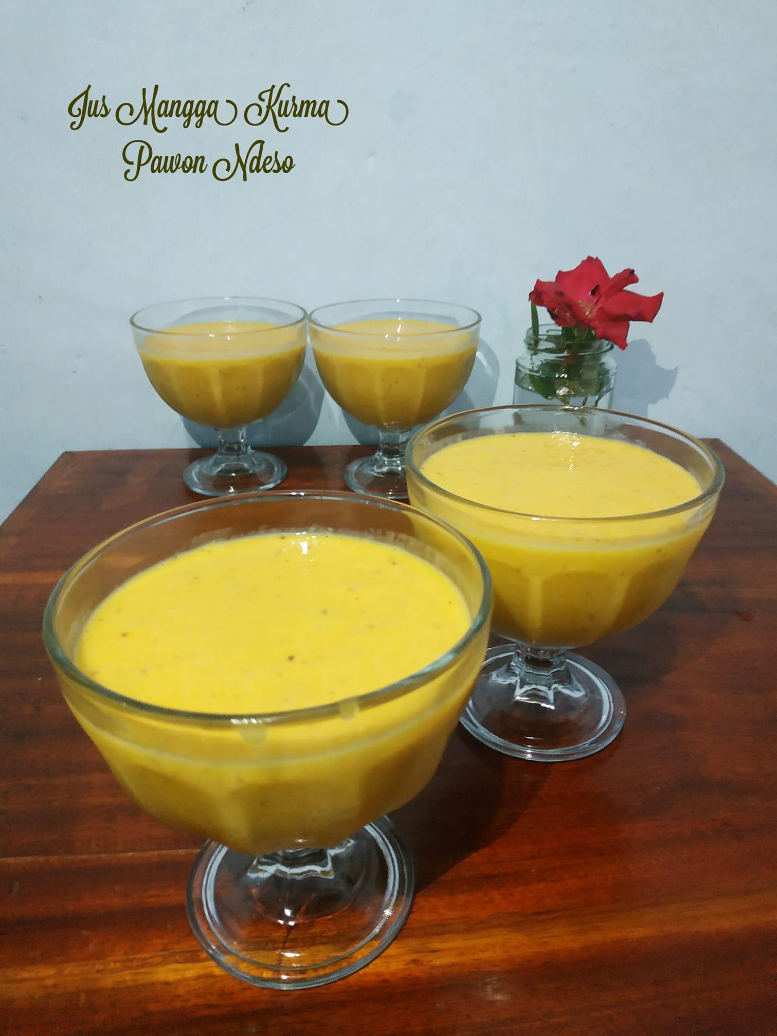 Minuman segar berbuka Jus mangga kurma by Afrillya Lya Lilysari