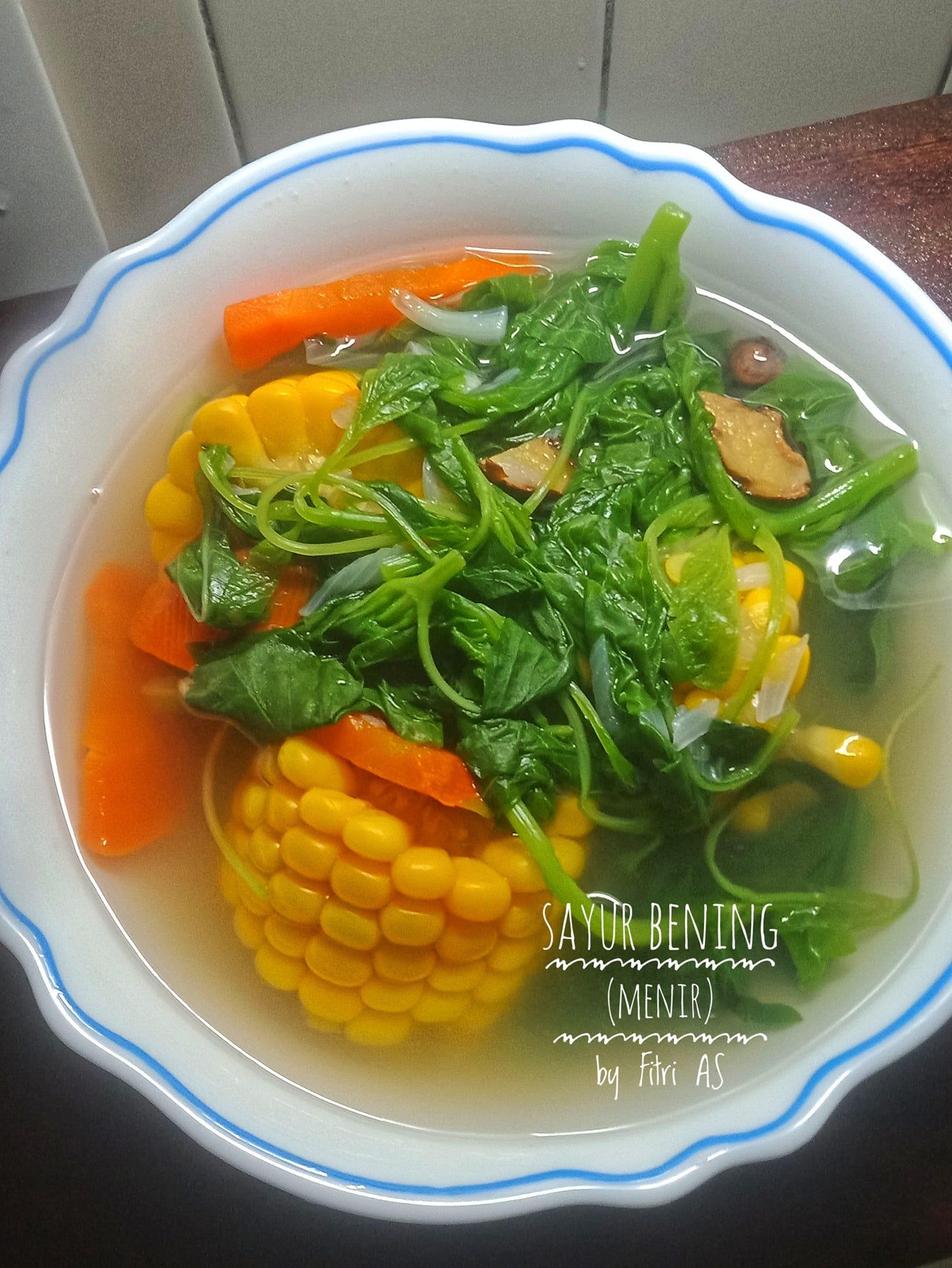 Sayur Bening, sayur menir atau sayur kunci by Fitri Agustina Setyarini