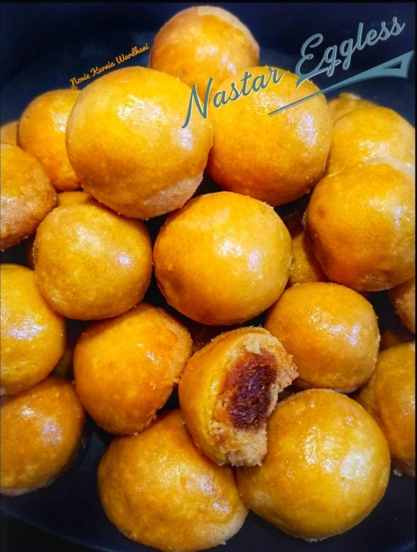 ada sensasi kres-kresnya nastar eggless by Novie Kurnia Wardani