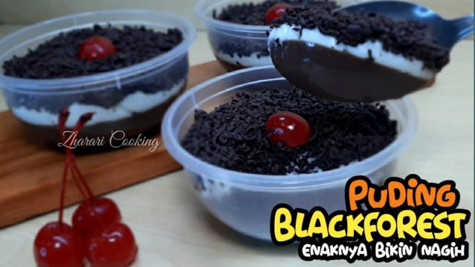 bikin ketagihan PUDING BLACKFOREST by Riska Imoet