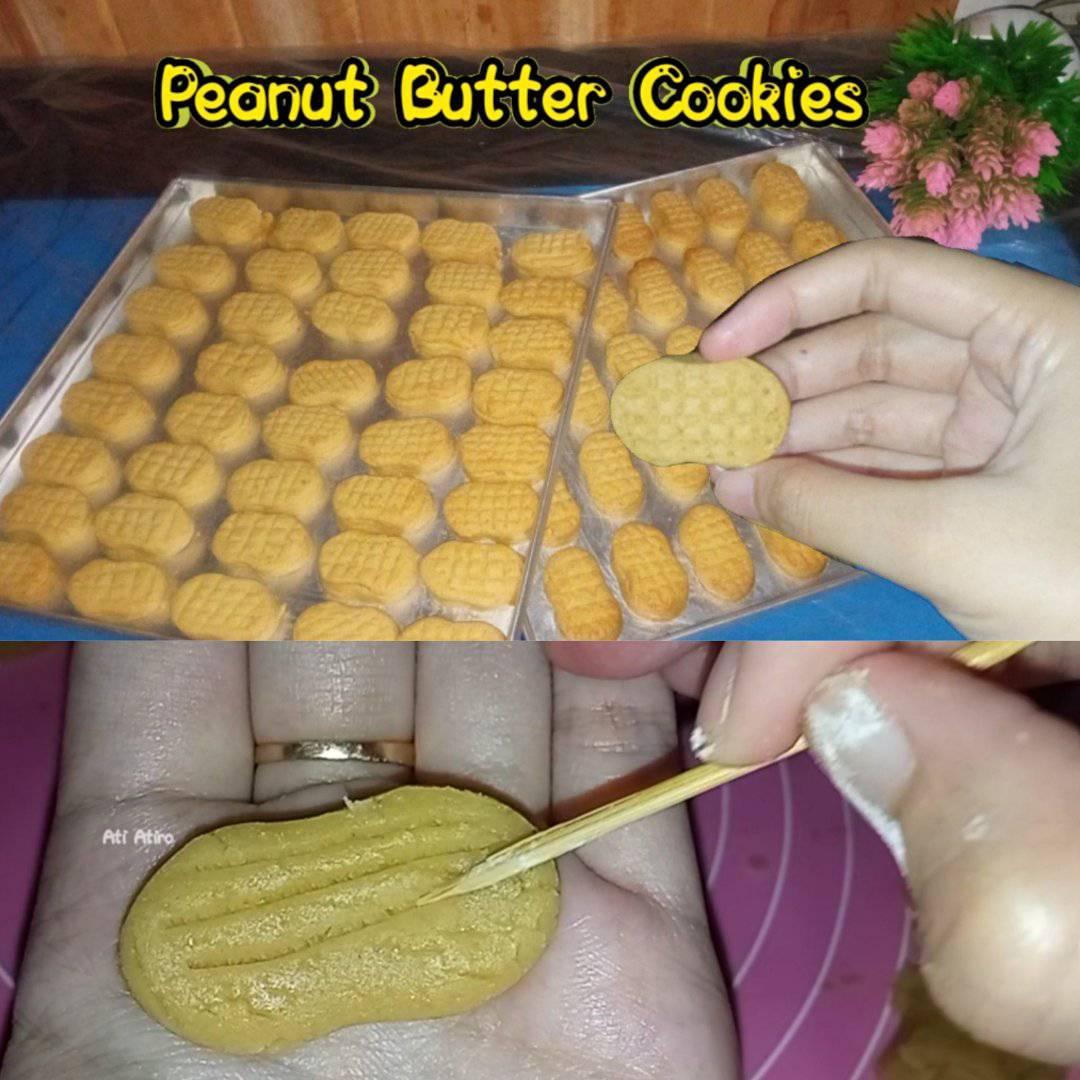 isi toples lebaran kue kering kacang Peanut butter cookies by Ati Atiro