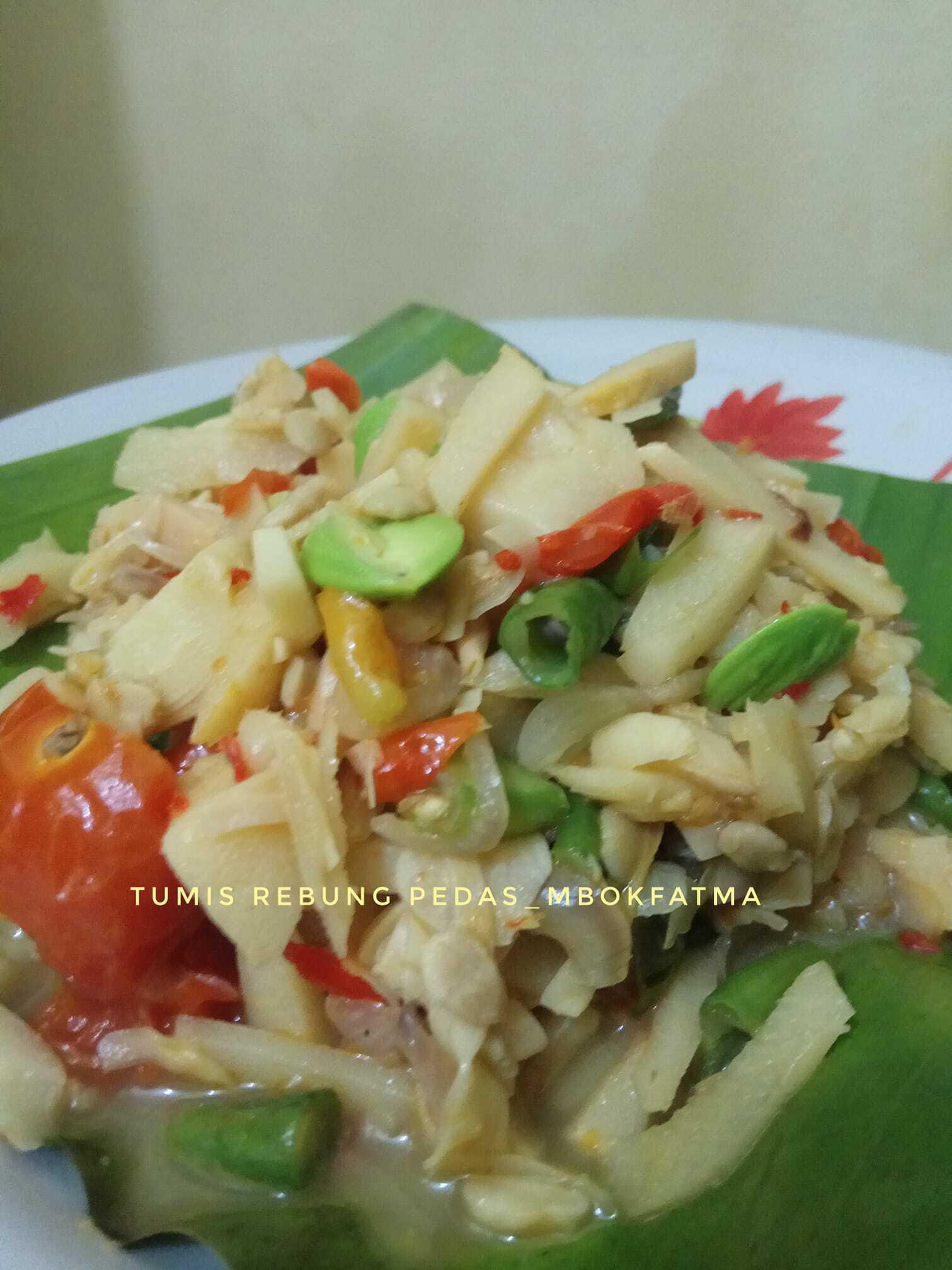 nambah nasi karena TUMIS REBUNG PEDAS by Yuni Fatmawati