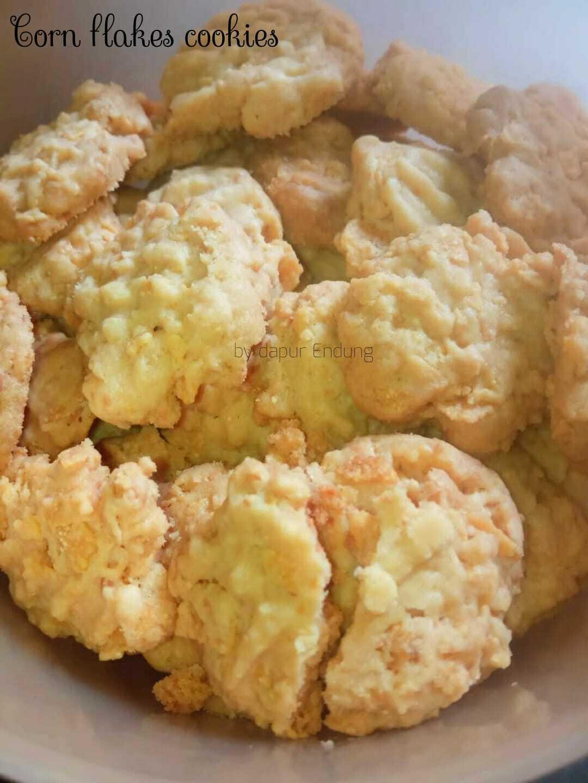 renyah, kriuk, kres, garing Cornflakes cookies by Dapurnya Anggie