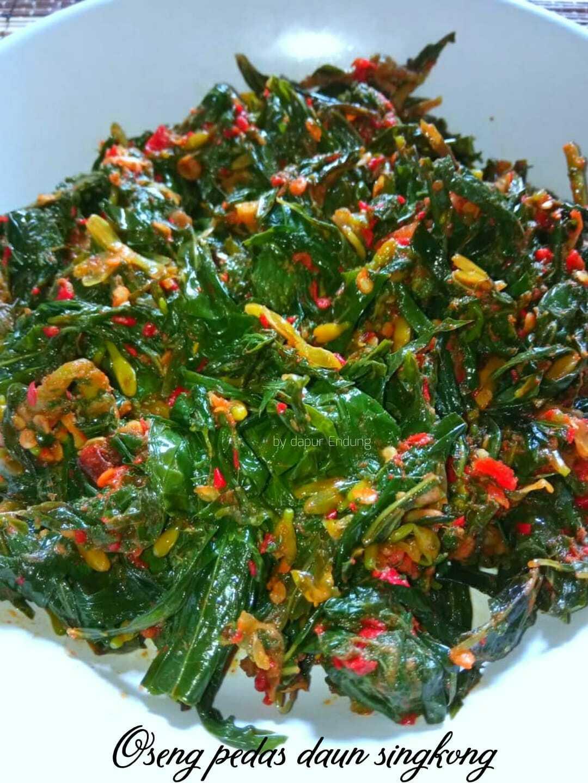 Oseng pedas daun singkong by Dapurnya Anggie