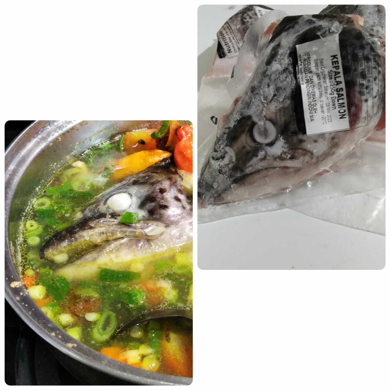 Sup kepala ikan salmon by Sri Hartati