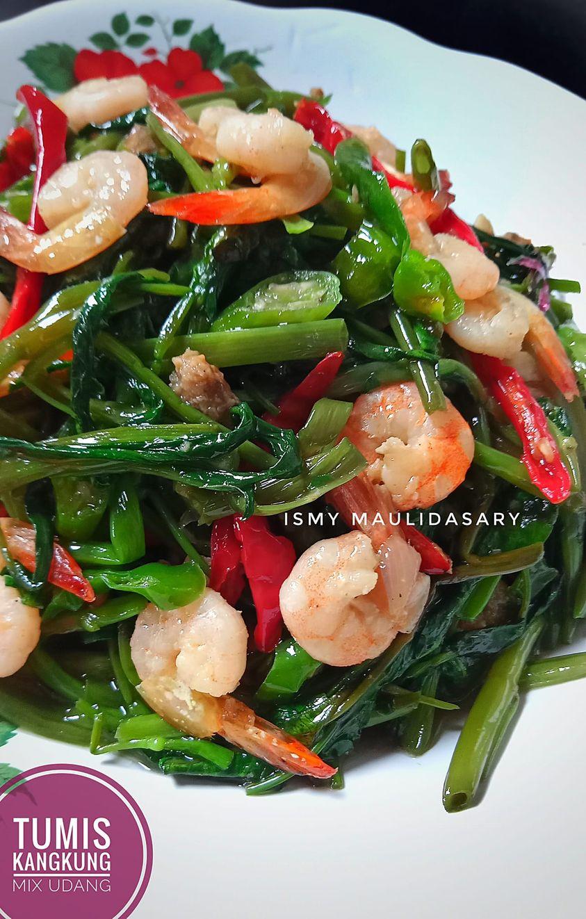 Tumis Kangkung Mix Udang by Ismy Maulidasary