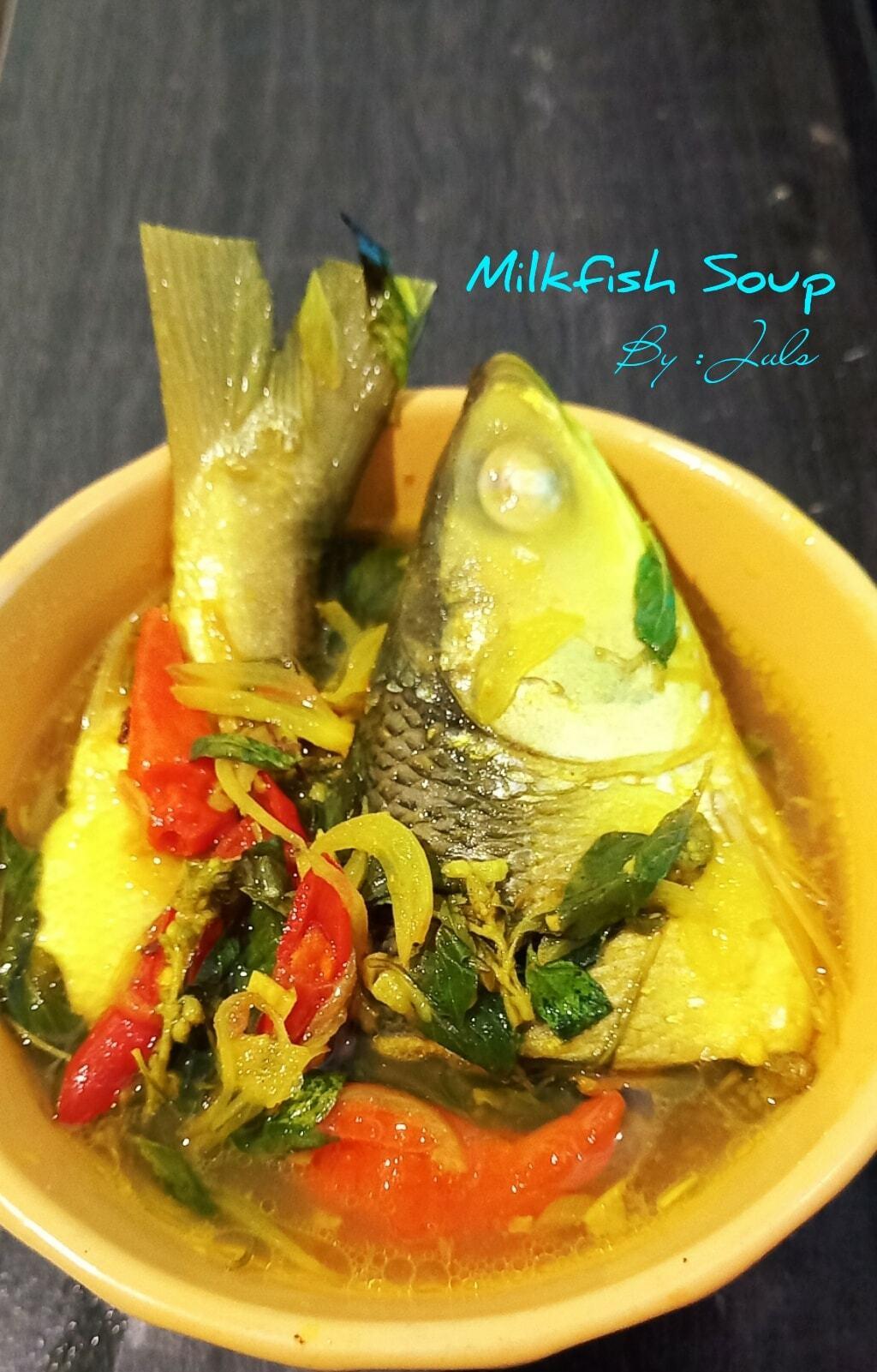 menu lunch simple tapi nikmat MILKFISH SOUP by Julie Darwis