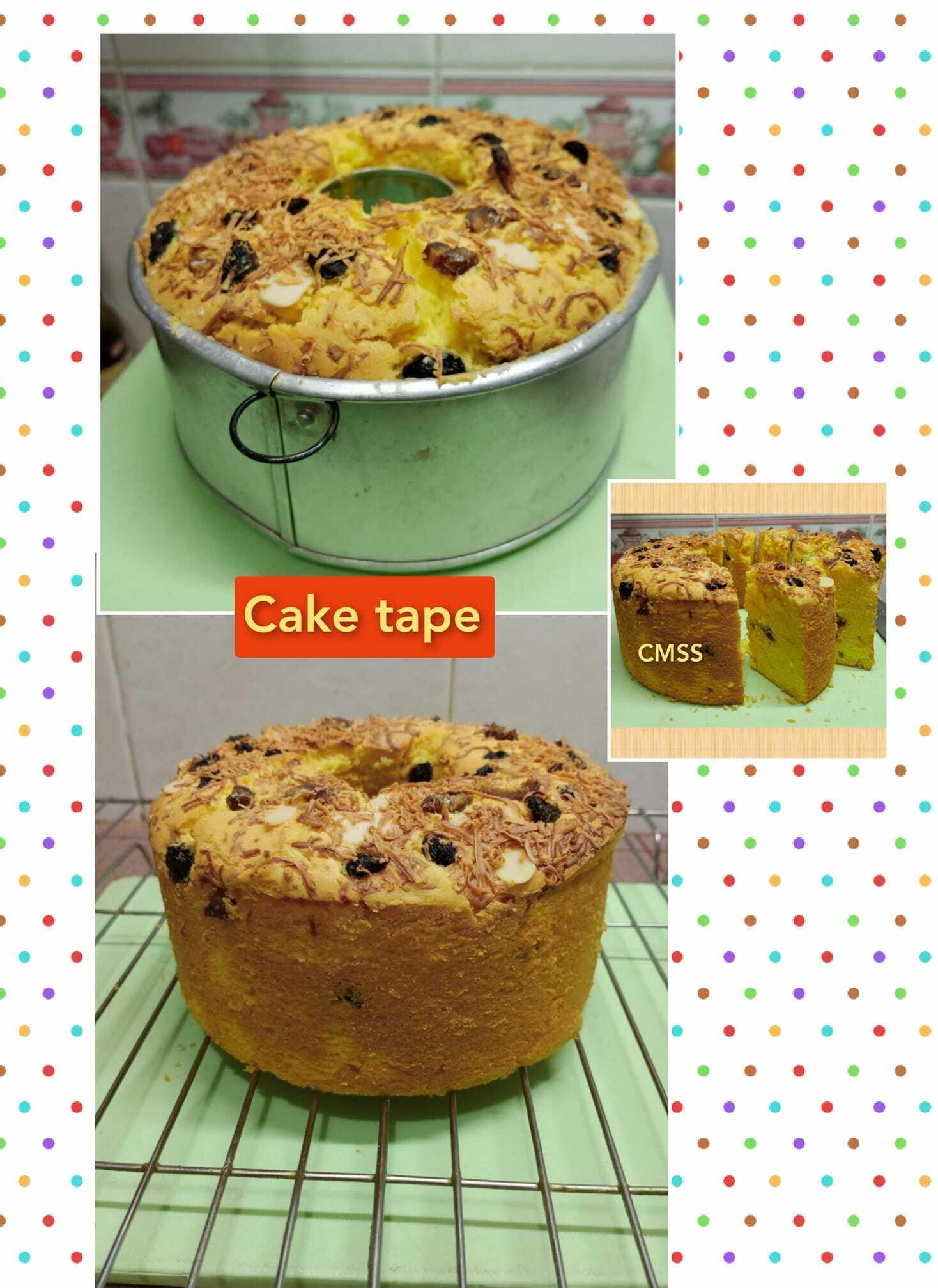 CAKE TAPE topping keju almond dan kismis by MartyPur Cmss