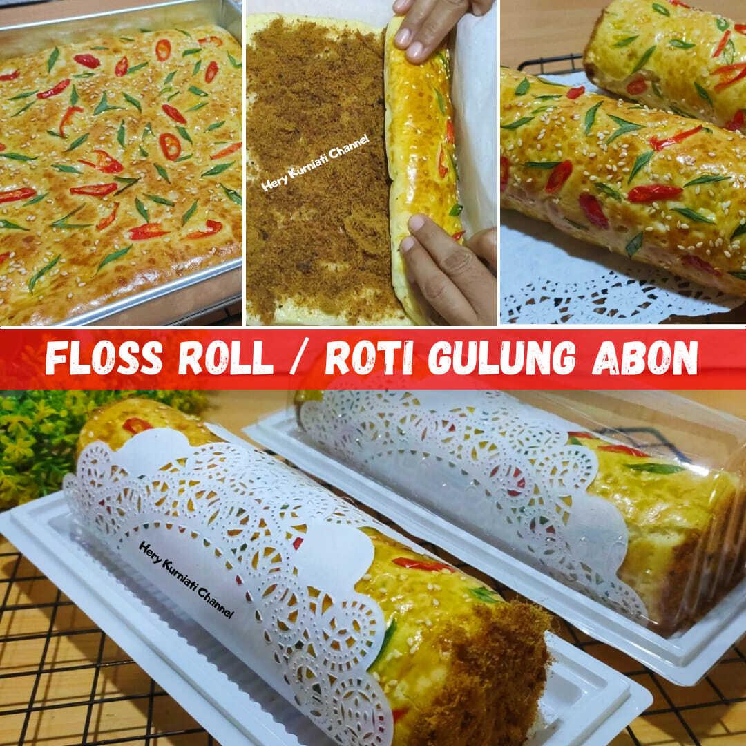 Cocok untuk ide jualan Roti Gulung Abon Floss Roll by Hery Kurniati