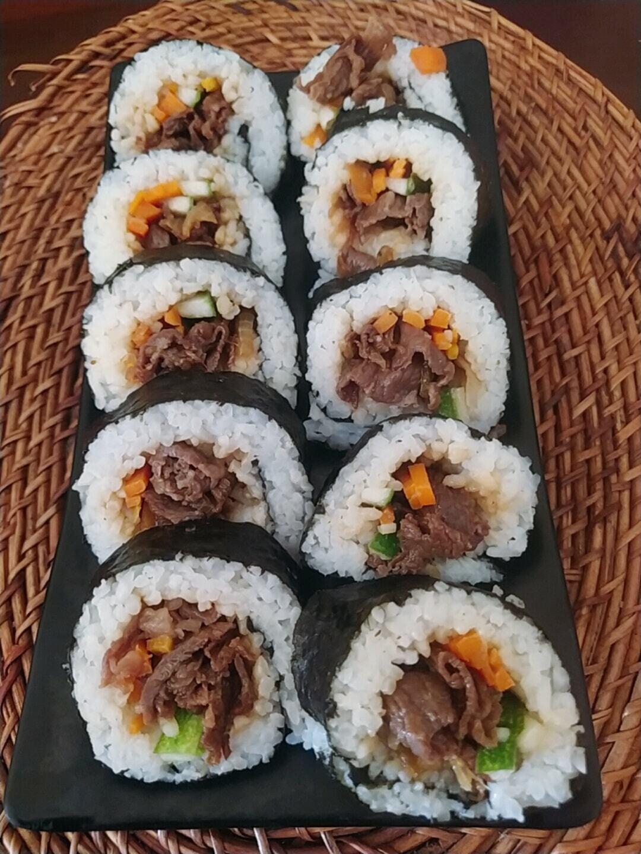 Sushi beef teriyaki ala Nita Andriani