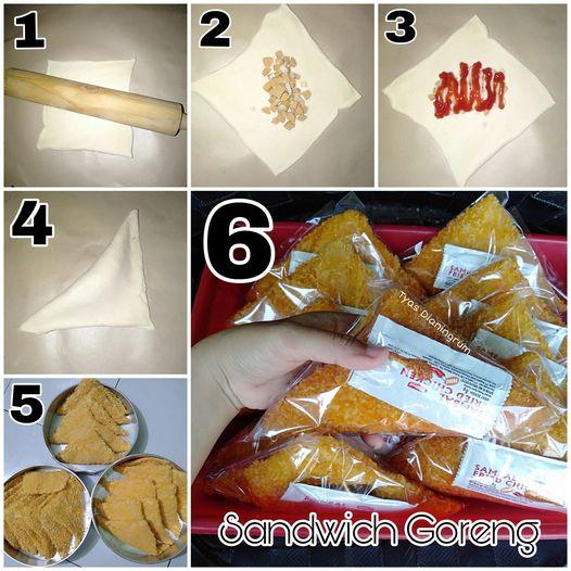 menu dagangan SANDWICH GORENG ala Tyas Dianingrum