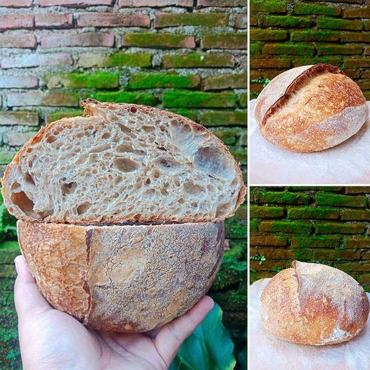 sourdough country bread dengan alat sederhana by Dodik Aprianto
